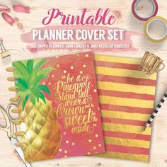 Printable Planner/Binder Cover Set Pineapple by ChloesPaperie