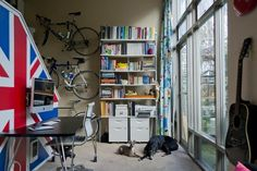 bike storage in a small space.