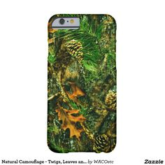 Natural Camouflage - Twigs, Leaves and Pinecones Barely There iPhone 6 Case