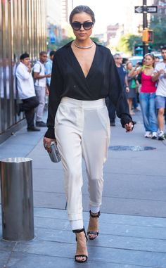 Black & White from Olivia Culpo's Street Style  She's effortlessly cool in this DKNY ensemble.