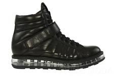 NEW PRADA LADIES BLACK LEATHER LEVITATE WEDGE SOLE SNEAKERS BOOTS SHOES 41/US 11
