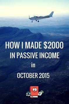 Real Estate Passive Income Report - October 2015