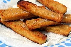 panisses - fried pieces of chickpea paste. same principle as polenta, only with chickpeas. a French classic.