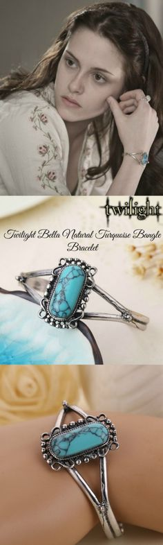 Twilight Bella Natural Turquoise Bangle Bracelet! Click The Image To Buy It Now or Tag Someone You Want To Buy This For.  #Twilight