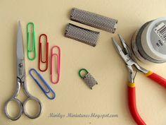 Minilys Miniatures. Tutorial rallador de cocina. 1:12 Casa de muñecas