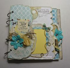 I wish I was crafty, I want to make a cute scrapbook for cal!