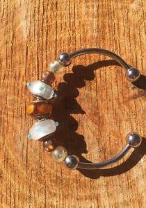 Love Links Bracelet Horseshoe Murano Glass 925 Brown Clear 9 Piece Bracelet | eBay