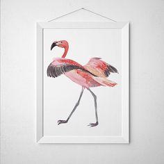Cartel del vivero Flamingo imprimir decoración por DeerAndBadgers