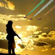 Indian army holding Indian national flag i love my India