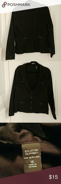 Light weight jacket / blazer Black jacket / blazer.  Looks great with a dressy shirt. New York & Company Jackets & Coats Blazers