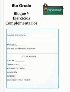 6to Grado - Bloque 5- Ejercicios Complementarios