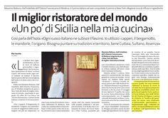 Interessante l'articolo a firma della giornalista Rita Vecchio, pubblicato sul Giornale di Sicilia dello scorso sabato 23 luglio, nella pagina denominata 'Tempo Libero'. Io ho detto la mia su 'tradizioni e territorio', connubio perfetto in Sicilia