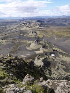 Lakagígar, or Laki Craters, is a 27 km long eruptive fissure consisting of 130 giant craters on the southwest side of Vatnajökull, Iceland.
