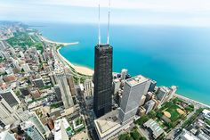 """Start your pilgrimage at """"Big John,"""" the 100-storey John Hancock Center on Michigan Avenue, once the tallest building in the world outside NYC. Dress warmly for the open-air SkyWalk, to take in breathtaking 360° views of the city. But it doesn't stop there...  Want more inspiration where to go? Explore ==>"""
