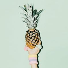 Nothing says cool like pineapples and pastels #summer #fruit #pastels #loveit