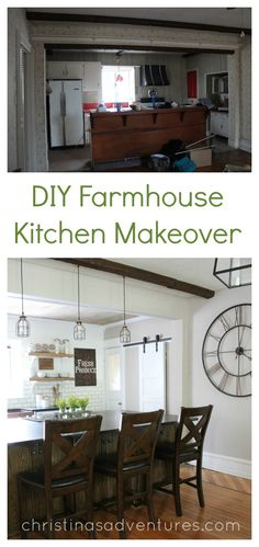diy farmhouse kitchen makeover all the details open