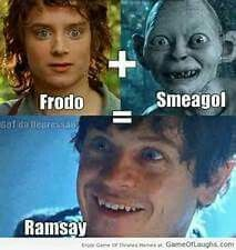 Game of Thrones: Ramsey Bolton, Hobbit.