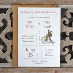 Wedding Invitations / Wedding Invitation  - Penny Farthing Wedding Invites. $4.00, via Etsy.