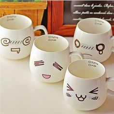 Mugs with face :3