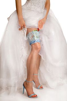 Interesting! A way to keep your cell phone, id, etc. on your person with this girly go garters Bridal Blue Wedding Collection GlitzyGoGarter® – GirlyGoGarter
