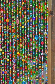 Items similar to Beaded curtain-Glass Beaded Suncatcher- Window curtain-beaded door curtain-hanging door beads-beaded wall hanging-bohemian wall art-wall art on Etsy Beaded Door Curtains, Hanging Curtains, Window Curtains, Shower Curtains, Glass Wall Art, Stained Glass Art, Hanging Door Beads, Crystal Beads, Glass Beads