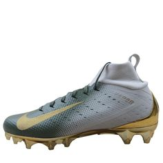 d63bba345 Nike Vapor Untouchable Pro 3 Football Cleats Size 9.5 Mens Gold Green  917165 007  Nike