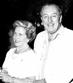Lilly and Walt Disney at the Mary Poppins wrap party, 1963.