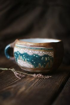 Slow down for some tea Ceramic Mugs, Ceramic Pottery, Ceramic Art, Creation Deco, Mug Cup, Earthenware, Vases, Coffee Cups, Tea Pots