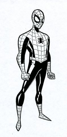 Spider-Man sketch by Bruce Timm.
