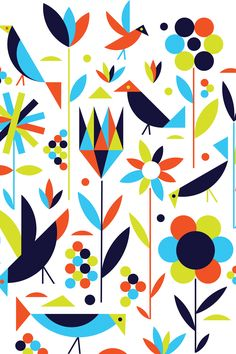 """""""Birds & Flowers"""" - by Greg Mably"""