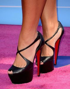 Unique, sexy high heels with an open toe will create your fashion look for the night.