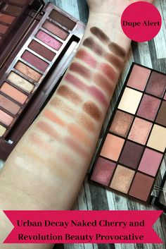 Urban Decay Naked Cherry and Revolution Beauty Reloaded Provocative Palette (Dupe/Alternative) #beautyproductsmusthave
