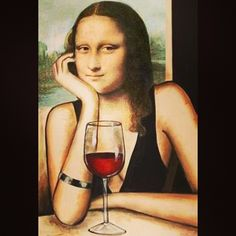 Descobrimos a verdade sobre o sorriso enigmático da Monalisa: ela era cliente do Menu, hehe