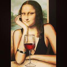 think Mona Lisa would have been a wine fan! Seguro que Mona Lisa era una fan del vino. Mona Lisa, La Florentine, La Madone, Tachisme, Wine News, Wine Signs, Wine Decor, Wine Reviews, Wine Quotes