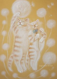 Купить Пушистая любовь: В ожидании чуда - любовь, ожидание, счастье, Влюбленные коты