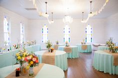 love this sweet reception set-up at Mercury Hall in Texas!   Lahra Bryant #wedding