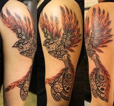 Unique Lace Bird tattoo by Tony Nguyen #ink #tattoos #tattoo #inked