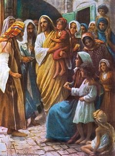Suffer The Children To Come To Me by Harold Copping ~ Jesus