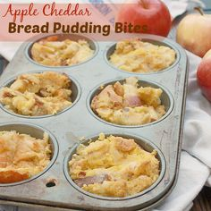 Apples, nutmeg and whole grain bread combine in custardy bread pudding that can be a grab-and-go breakfast or a wholesome dessert. Apple Recipes, Fall Recipes, Whole Food Recipes, Cooking Recipes, No Bake Desserts, Healthy Desserts, Healthy Recipes, Yummy Recipes, Healthy Food
