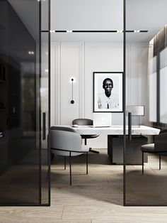 The Modern Office. – Executive Home Office Design Corporate Office Design, Modern Office Design, Office Interior Design, Home Office Decor, Office Interiors, Home Decor, Office Ideas, Corporate Interiors, Office Designs