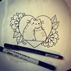 """""""This lil Pusheen design is up for grabs! First come, first serve- please call the shop to make an appointment! (804)-264-8002 ❤️ #pusheen"""""""