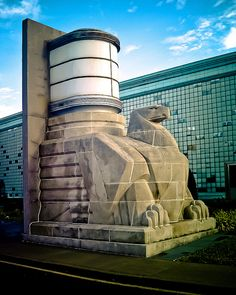 One of the two magnificent Eagles, sculpted by Rene Paul Chambellan, that graced the sadly demolished Airlines Terminal building in New York City. Thankfully the Eagles were saved, now located at the entrance of the Bank of America Building in Richmond, Virginia.