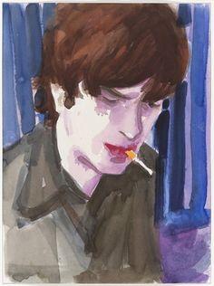 Elizabeth Peyton. Matthew Smoking. (1997)