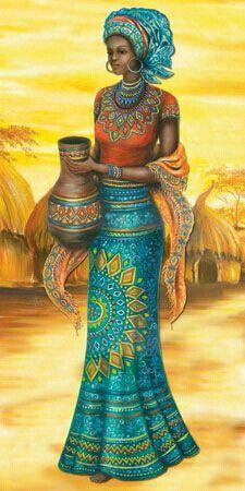 african art (I like this) African Beauty, African Women, African Fashion, Afrique Art, African Art Paintings, Black Artwork, Afro Art, Black Women Art, African American Art