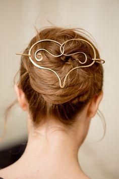 Heart Hair slide Hair Pin for thick hair Hair от actionLove