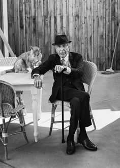 Leonard Cohen at home, Los Angeles, September, 2016.