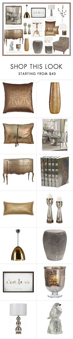 """""""Metallic Decor"""" by terry-tlc ❤ liked on Polyvore featuring interior, interiors, interior design, home, home decor, interior decorating, WALL, Simplydesignz, Hooker Furniture and Graham & Brown"""