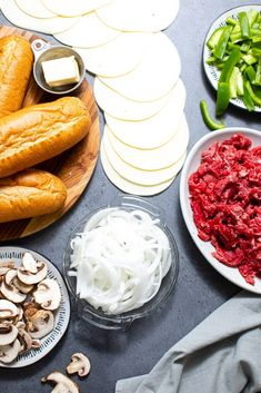 Easy Philly Cheesesteak Recipe (+Video!) - Butter Be Ready Homemade Philly Cheesesteak, Cheesesteak Recipe, Steak Recipes, My Recipes, Best Beef Stew Recipe, Kinds Of Steak, Stuffed Mushrooms, Stuffed Peppers, Provolone Cheese