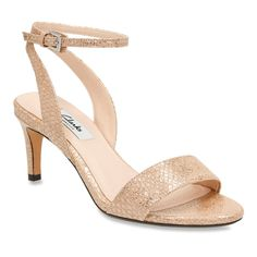 Clarks Women's Amali Jewel Champagne Metallic Leather 9 M