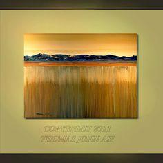 ORIGINAL PAINTING Abstract Large 30X40 Modern Surrealism Impasto Fine Art By Thomas John